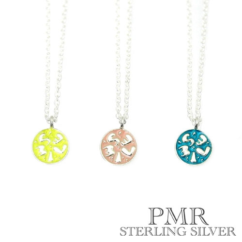 pmr wish (ピーエムアール ウィッシュ) SMILE シルバー ネックレス イエロー